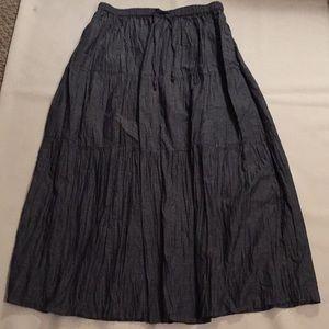 White Stag Charcoal Gray Denim Cotton Skirt